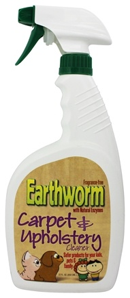 Earthworm - Carpet and Upholstery Cleaner Family Safe and Fragrance Free - 22 oz.