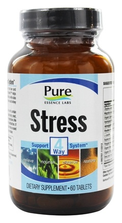 DROPPED: Pure Essence Labs - Stress 4 Way Support System - 60 Tablets