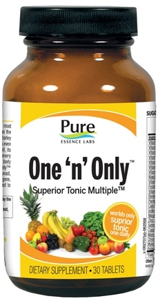 DROPPED: Pure Essence Labs - One 'n' Only Superior Tonic Multiple - 30 Tablets CLEARANCE PRICED