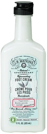 JR Watkins - Naturals Apothecary Rejuvenating Foot Cream Peppermint - 11 oz.