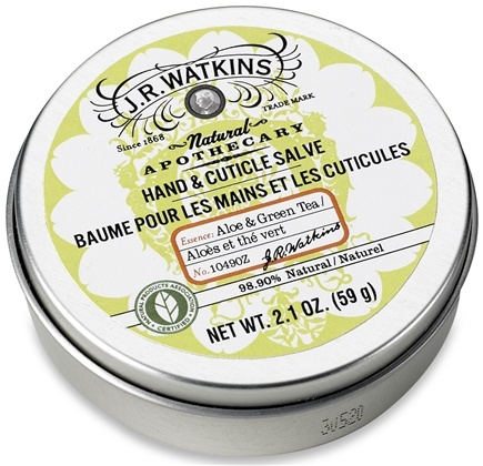 DROPPED: JR Watkins - Natural Apothecary Hand & Cuticle Salve Aloe & Green Tea - 2.1 oz. CLEARANCE PRICED