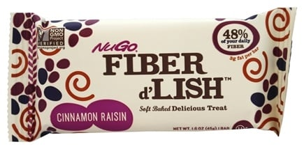 NuGo Nutrition - Fiber d'Lish Bar Cinnamon Raisin - 1.6 oz.