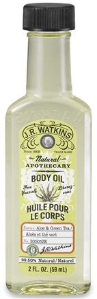 DROPPED: JR Watkins - Natural Apothecary Body Oil Aloe & Green Tea - 2 oz. CLEARANCE PRICED