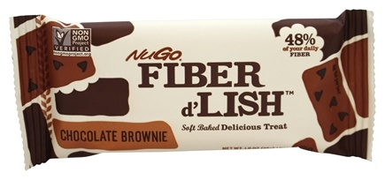 NuGo Nutrition - Fiber d'Lish Bar Chocolate Brownie - 1.6 oz.