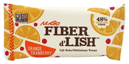 NuGo Nutrition - Fiber d'Lish Bar Orange Cranberry - 1.6 oz.