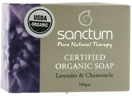 DROPPED: Sanctum - Certified Organic Bar Soap Lavender & Chamomile - 100 Grams