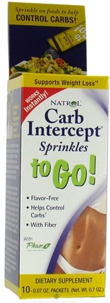 DROPPED: Natrol - Carb Intercept Sprinkles To Go 1000 mg. - 10 Packet(s) CLEARANCE PRICED