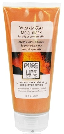 DROPPED: Pure Life Soap Co. - Facial Mask Volcanic Clay For Oily/Problem Skin - 6.8 oz.