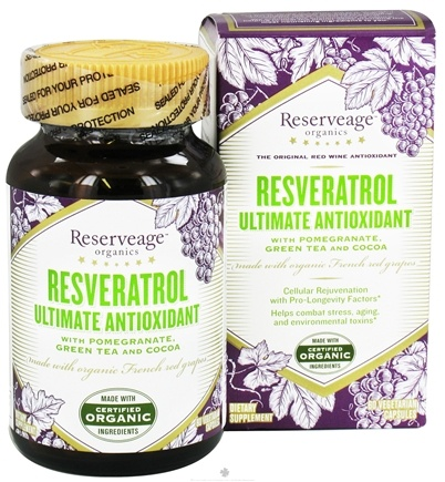 DROPPED: ReserveAge Organics - Ultimate Antioxidant - 60 Vegetarian Capsules CLEARANCED PRICED