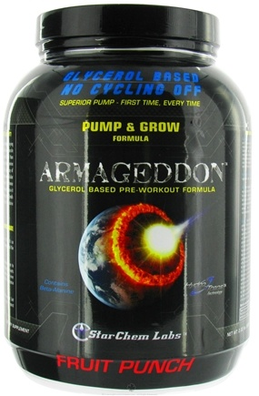 DROPPED: StarChem Labs - Armageddon Glycerol Based Pre-Workout Formula Fruit Punch - 2.02 lbs. CLEARANCE PRICED
