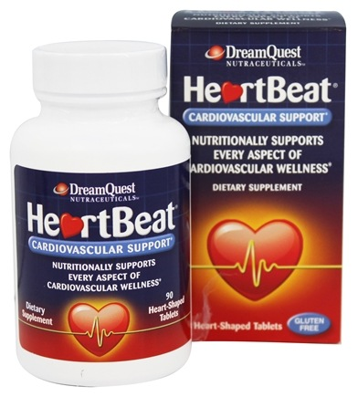 Dream Quest Nutraceuticals - HeartBeat Cardiovascular Support - 90 Tablets