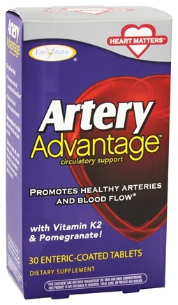 DROPPED: Enzymatic Therapy - Artery Advantage Circulatory Support - 30 Tablets
