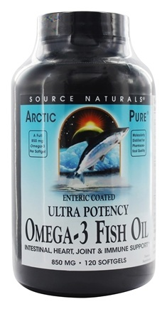 Source Naturals - ArcticPure Omega-3 Fish Oil 850 mg. - 120 Enteric Coated Softgels