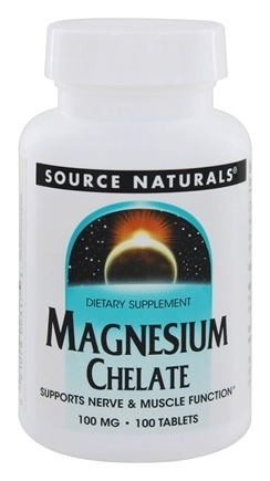 Source Naturals - Magnesium Amino Acid Chelate 100 mg. - 100 Tablets