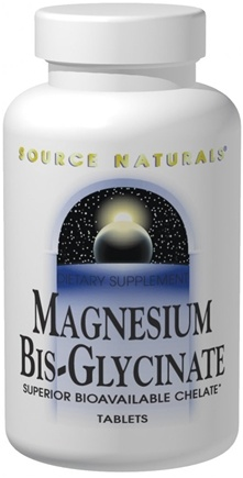DROPPED: Source Naturals - Magnesium Bis-Glycinate Superior Bioavailable Chelate - 120 Tablets