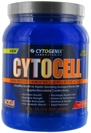 DROPPED: Cytogenix Laboratories - Cytocell Post-Workout Recovery Acclerator Fruit Punch - 1.5 lbs.