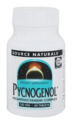 DROPPED: Source Naturals - Pycnogenol Proanthocyanidin Complex 100 mg. - 60 Tablets