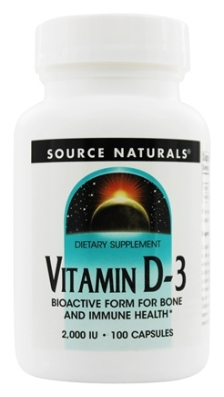 Source Naturals - Vitamin D-3 Bioactive Form For Bone & Immune Health 2000 IU - 100 Capsules