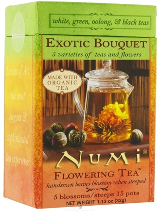 DROPPED: Numi Organic - Flowering Tea Exotic Bouquet - 5 Blossoms/Steeps Assorted