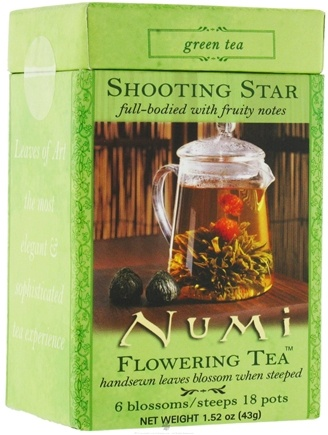 DROPPED: Numi Organic - Flowering Tea Shooting Star - 6 Blossoms/Steeps  Green Tea - CLEARANCE PRICED