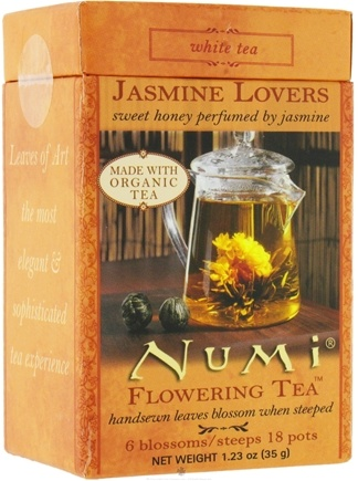 DROPPED: Numi Organic - Flowering Tea Jasmine Lovers White Tea - 6 Blossoms