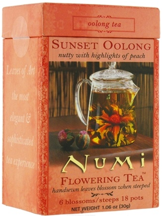 DROPPED: Numi Organic - Flowering Tea Sunset Oolong- 6 Blossoms - CLEARANCE PRICED