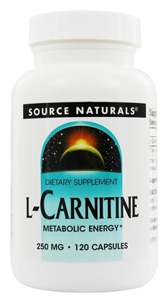 Source Naturals - L-Carnitine Metabolic Energy 250 mg. - 120 Capsules