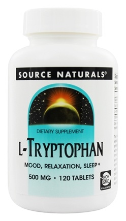 Source Naturals - L-Tryptophan Mood Relaxation Sleep 500 mg. - 120 Tablets