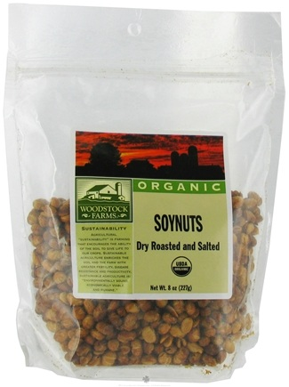 DROPPED: Woodstock Farms - Soynuts Dry Roasted and Salted - 8 oz.