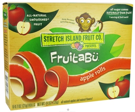 DROPPED: Stretch Island Fruit - Fruitabu Smoooshed Fruit Rolls (6 x .7 oz.) Apple - 4.4 oz. CLEARANCE PRICED