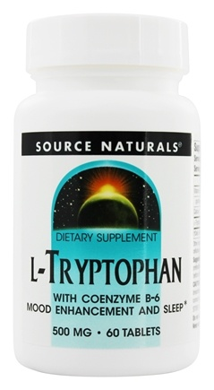 DROPPED: Source Naturals - L-Tryptophan With Coenzyme B-6 500 mg. - 60 Tablets