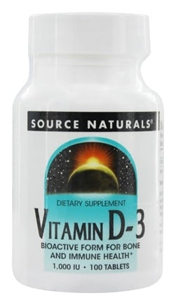 Source Naturals - Vitamin D-3 1000 IU - 100 Tablets