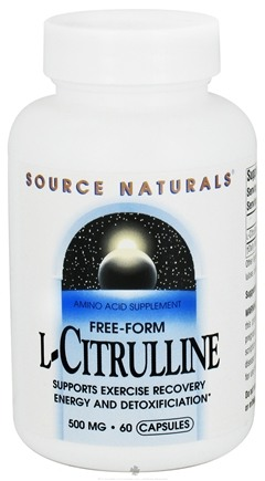 DROPPED: Source Naturals - L-Citrulline Free-Form Amino Acid 500 mg. - 60 Capsules CLEARANCE PRICED