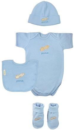 DROPPED: Green Sprouts - Sweet Ones Organic Cotton Gift Set Peanut 3-6 Months Cornflower Blue - CLEARANCE PRICED