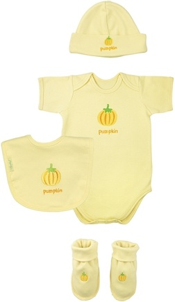 DROPPED: Green Sprouts - Sweet Ones Organic Cotton Gift Set Pumpkin 3-6 Months Bamboo Yellow - CLEARANCE PRICED