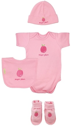 DROPPED: Green Sprouts - Sweet Ones Organic Cotton Gift Set Sugar Plum 3-6 Months Rose Pink - CLEARANCE PRICED