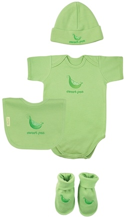 DROPPED: Green Sprouts - Sweet Ones Organic Cotton Gift Set Sweet Pea 3-6 Months Sage Green - CLEARANCE PRICED