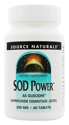 Source Naturals - GliSODin Power Superoxide Dismutase SOD 250 mg. - 60 Tablets