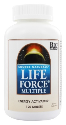 Source Naturals - Life Force Multiple Energy Activator - 120 Tablets