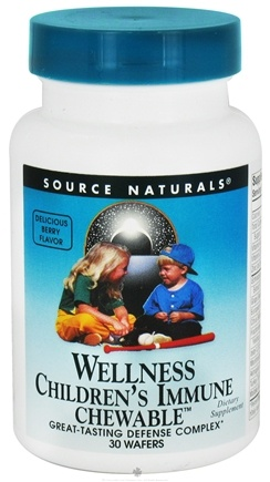 DROPPED: Source Naturals - Children's Immune Chewable Supports Wellness - 30 Wafers