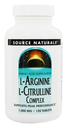 Source Naturals - L-Arginine L-Citrulline Complex Supports Peak Performance 1000 mg. - 120 Tablets