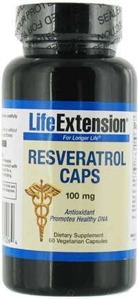 DROPPED: Life Extension - Resveratrol Caps 100 mg. - 60 Vegetarian Capsules CLEARANCE PRICED