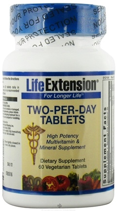 DROPPED: Life Extension - Two-Per-Day High Potency Multivitamin & Mineral - 60 Vegetarian Tablets