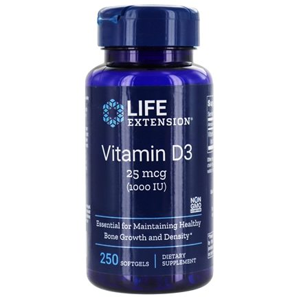 Life Extension - Vitamin D3 1000 IU - 250 Softgels