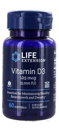 Life Extension - Vitamin D3 5000 IU - 60 Softgels