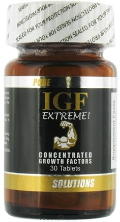 DROPPED: Pure Solutions - Pure IGF Extreme Concentrated Growth Factors Deer Velvet Antler Extract 12.5 mg. - 30 Tablets CLEARANCE PRICED