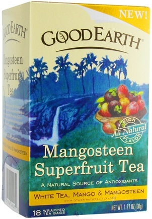 DROPPED: Good Earth Teas - Mangosteen Superfruit Tea White Tea, Mango & Mangosteen - 18 Tea Bags