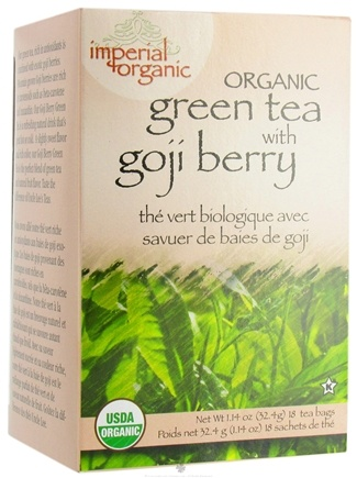 DROPPED: Uncle Lee's Tea - Imperial Organic Green Tea with Goji Berry - 18 Tea Bags CLEARANCE PRICED