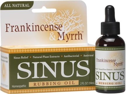 DROPPED: Frankincense & Myrrh - All Natural Sinus Rubbing Oil - 2 oz.