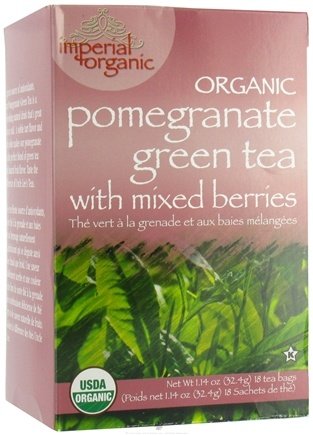 DROPPED: Uncle Lee's Tea - Imperial Organic Pomegranate Green Tea with Mixed Berries - 18 Tea Bags CLEARANCE PRICED